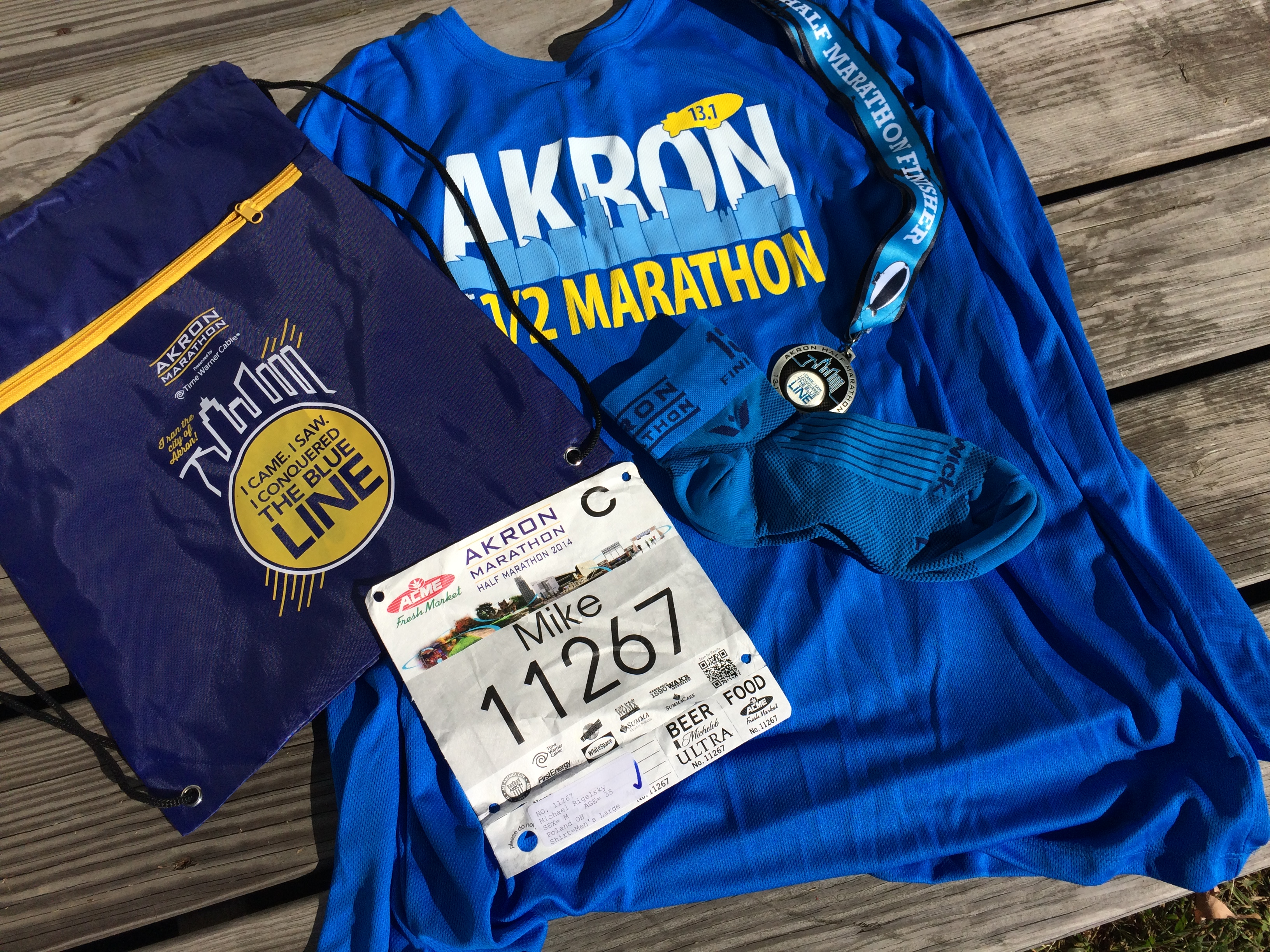 Just Follow The Blue Line: Race Review 2014 Akron Half Marathon